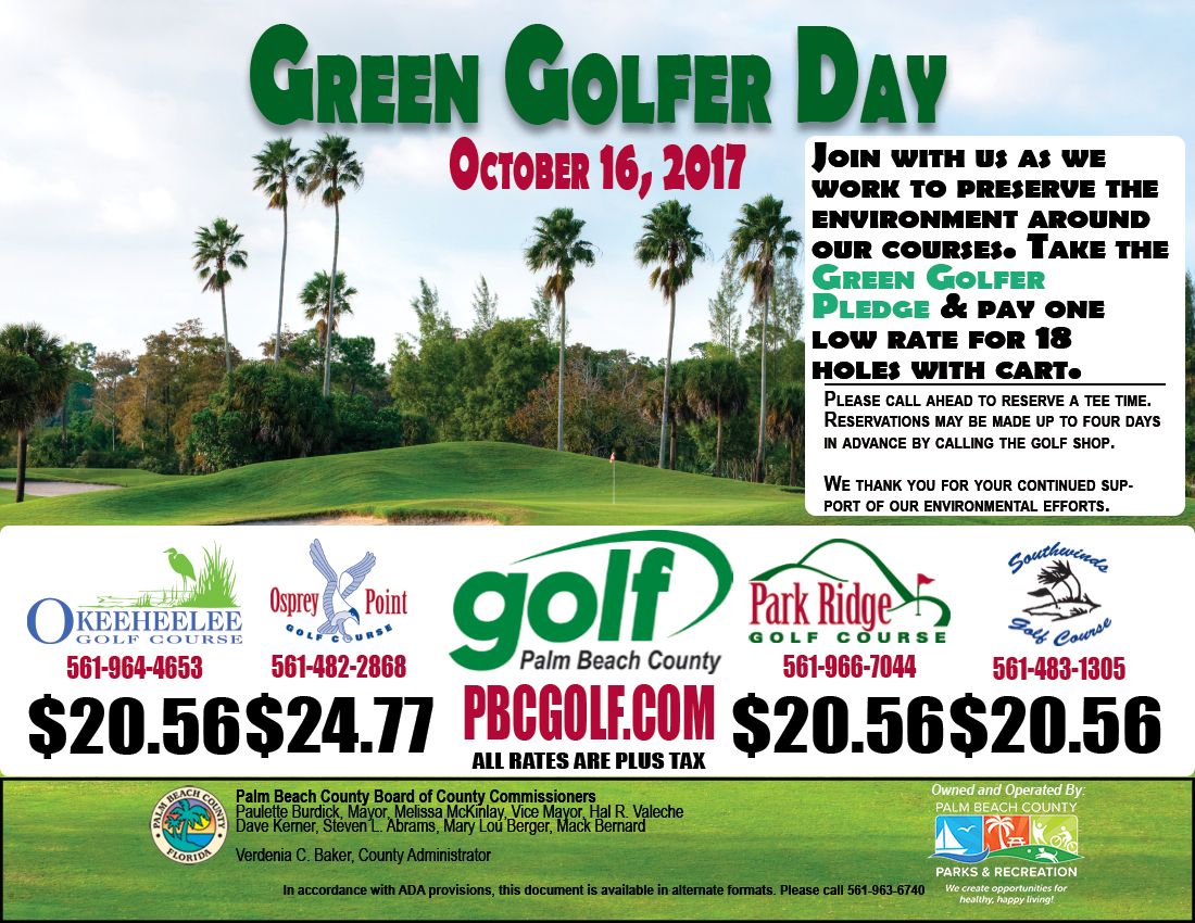 October 2017 Green Golfer Flyer 1